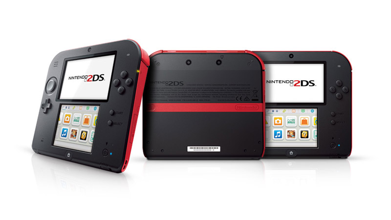 Nintendo 2DS Black Red