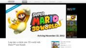 Wii U『スーパーマリオ 3Dワールド』、北米ティザーサイトが公開