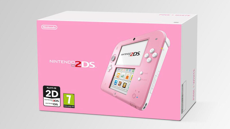 Nintendo 2DS Pink × White