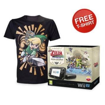 The Legend of Zelda: The Wind Waker HD Wii U Premium Pack with FREE Mens T-shirt