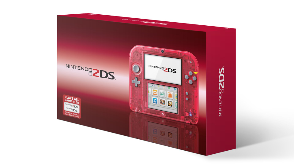 Nintendo 2DS Clear Red box
