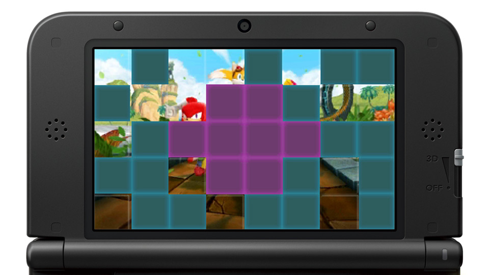 Sonic Boom Puzzle Swap panel