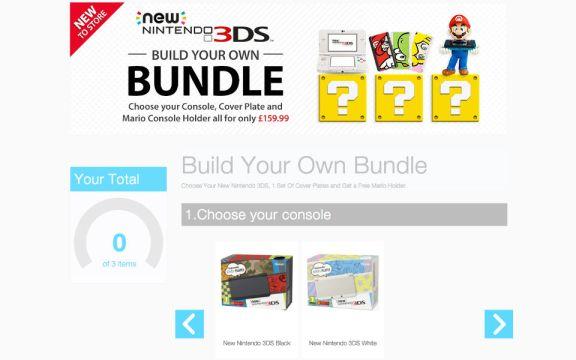 New Nintendo 3DS - Build your own bundle