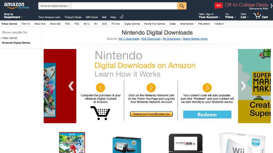 Nintendo Digital Downloads on Amazon.com