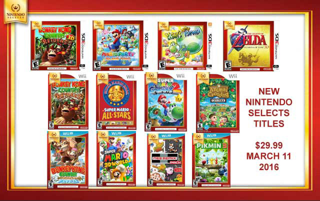 Nintendo Selects 2016年3月