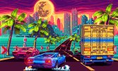『アウトラン』風レースゲーム『80's OVERDRIVE』のゲーム詳細、マシンのチューンナップ、ゲームモード、コースエディタなど