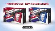 Oops! ルイージのうっかりミスで北米2DSの配色が変更、11月から入れ替わった新カラーで出荷開始