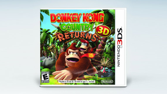 Donkey Kong Country Returns 3D BoxArt