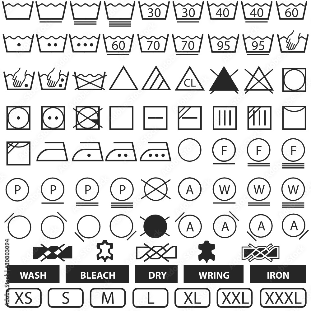 Wash symbols wall sticker wall stickers