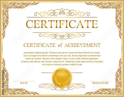 Vintage retro frame certificate background design template Buy