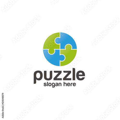 Puzzle unique logo design vector Buy Photos AP Images DetailView