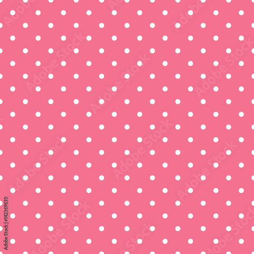 Seamless pink polka dot background Vector illustration eps 10