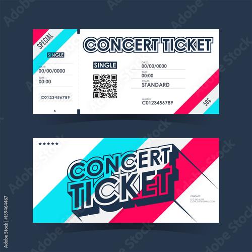 Concert ticket Card Element template for design Vector
