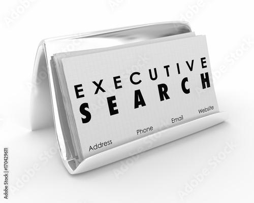 Executive Search Business Cards Career Job Recruitment 3d