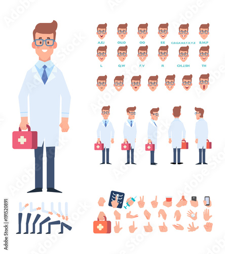 Doctor character for your scenes Character creation set with