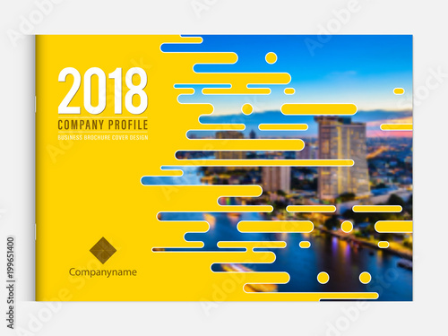 Cover design template corporate business annual report brochure