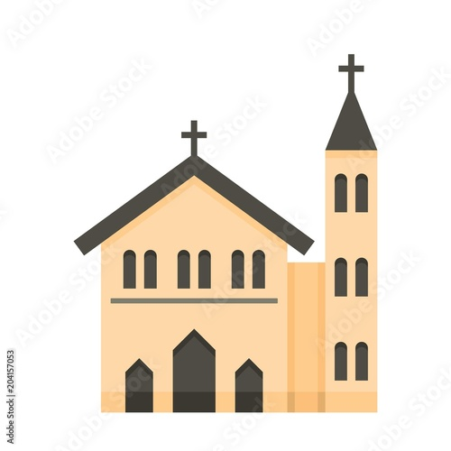 Church icon Flat illustration of church vector icon for web Buy