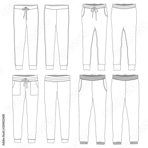 Vector template of Jogger pants Buy Photos AP Images DetailView