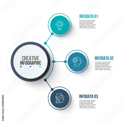 Circle business graphic elements Business process infographics with