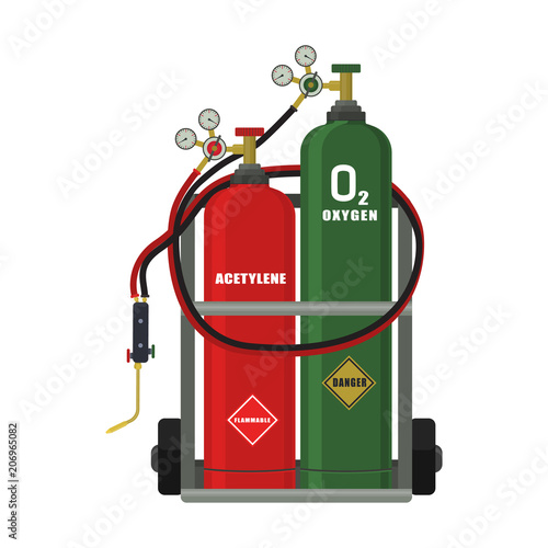 Vector illustration Gas welding on a white background Buy Photos