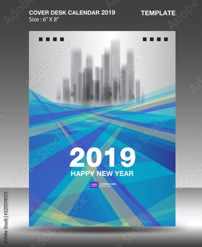 Cover Desk Calendar 2019 Design template, flyer template, ads
