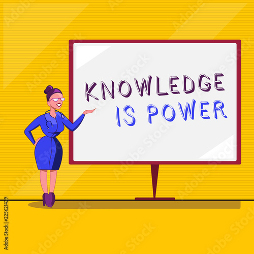 Text sign showing Knowledge Is Power Conceptual photo skills