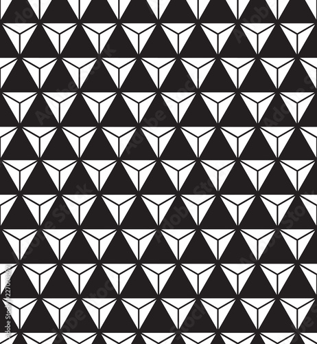 Seamless abstract geometric triangle form facet pattern Triangle
