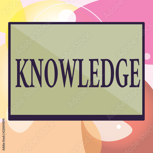 Conceptual hand writing showing Knowledge Business photo text Facts