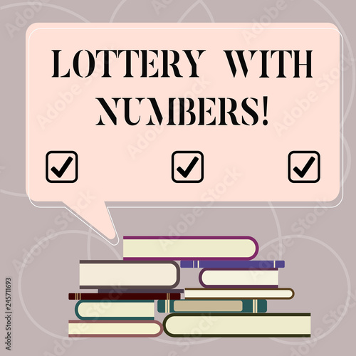Word writing text Lottery With Numbers Business concept for game of