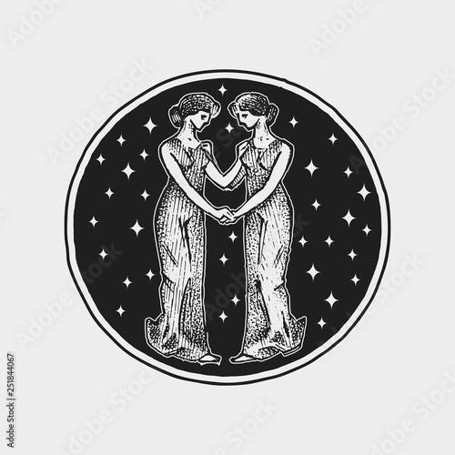 Virgo Zodiac icon Astrology horoscope with sign Calendar template