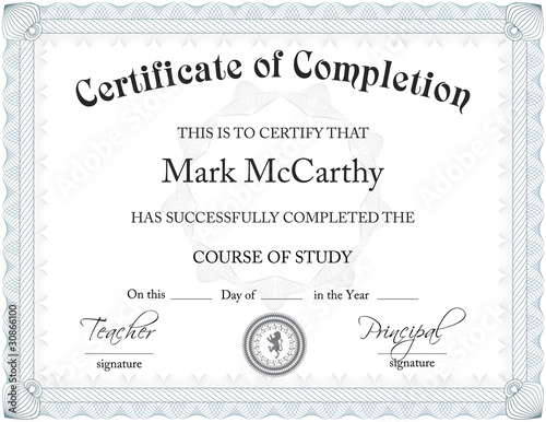 CERTIFICATE OF COMPLETION LAYOUT Buy Photos AP Images DetailView