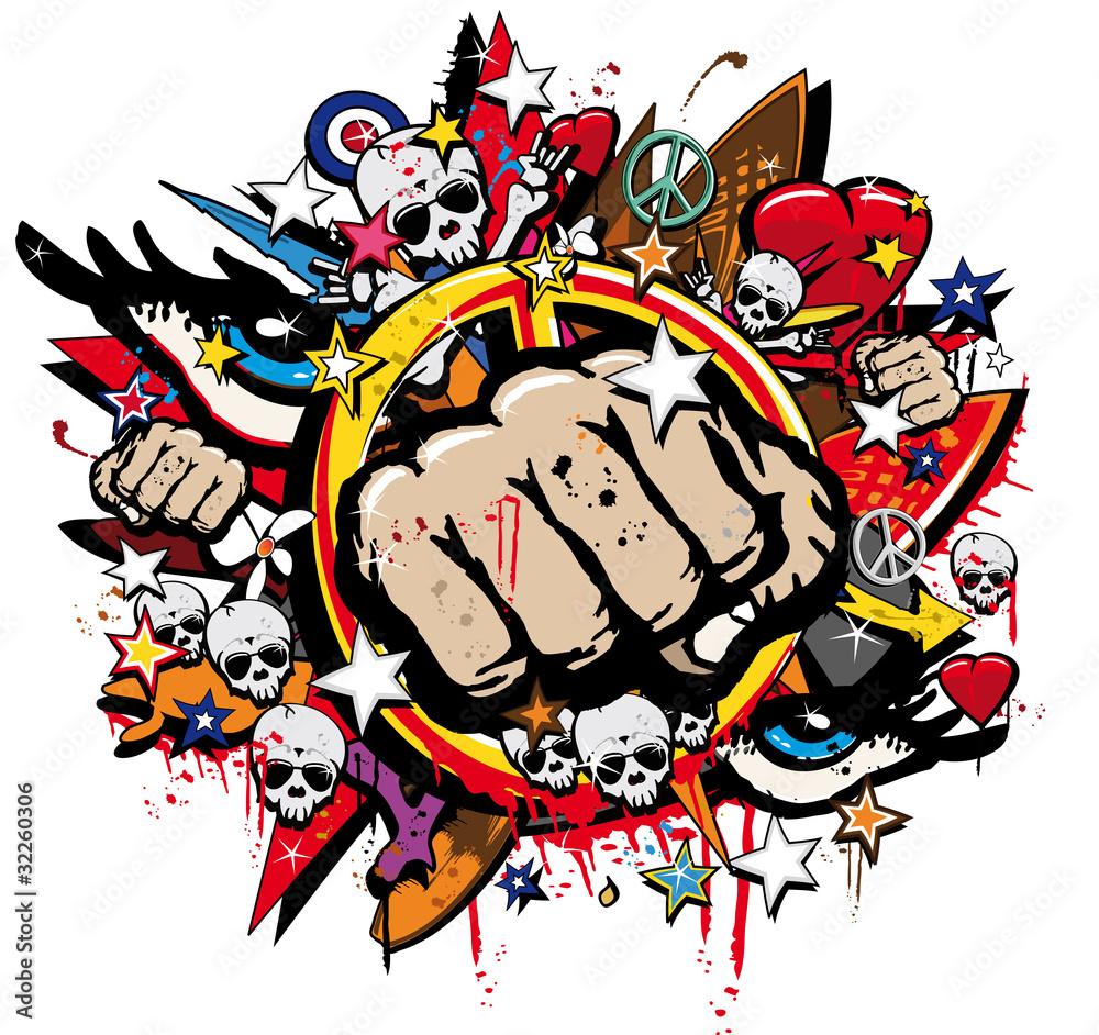 Sticker wall graffiti - Download