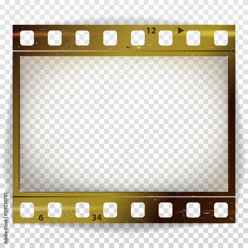 Film Strip Vector Cinema Of Photo Frame Strip Blank Scratched