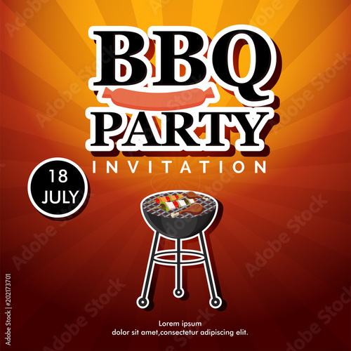Barbecue Poster, Flyer, Template or Invitation Design Buy Photos