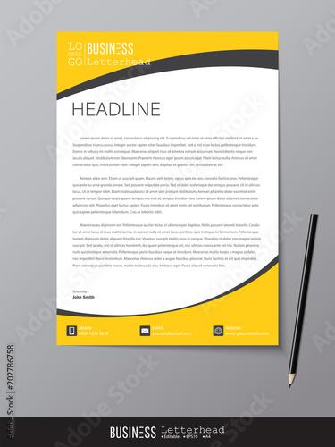 Letterhead design template and mockup minimalist style vector