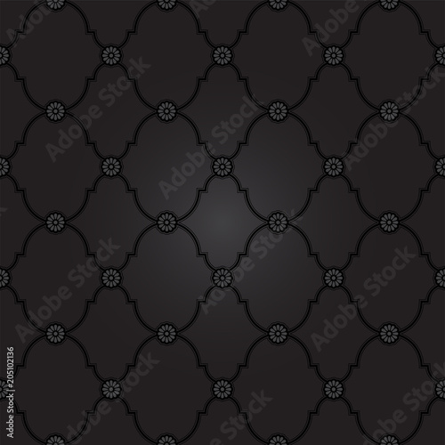 Black fancy background pattern Classy texture in vector format