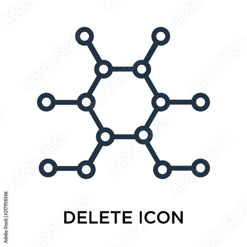 Delete icon vector isolated on white background, Delete sign , thin