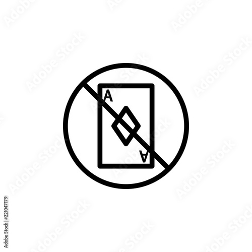 card prohibition icon Element of prohibition sign for mobile