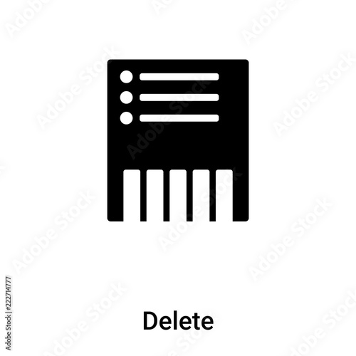 Delete icon vector isolated on white background, logo concept of