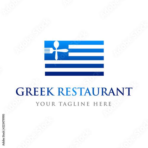 Greek Restaurant Flag Logo Template Buy Photos AP Images