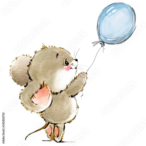 cartoon mouse watercolor illustration cute mice Buy Photos AP