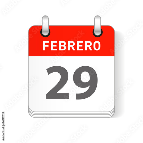 February 29 Spanish Calendar Date Buy Photos AP Images DetailView
