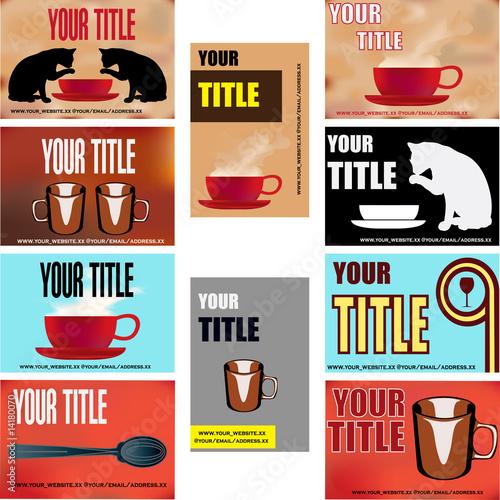 Cafe Business Card Templates\