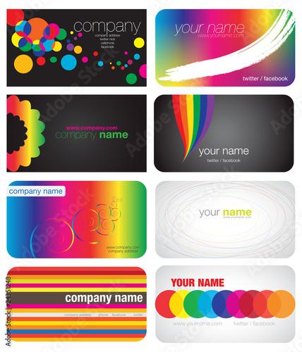 8 Colorfull Rainbow Business Cardsrainbow foil business cards