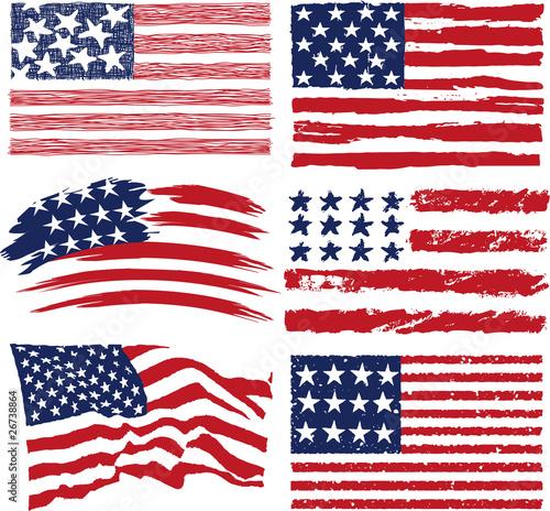 American flags\