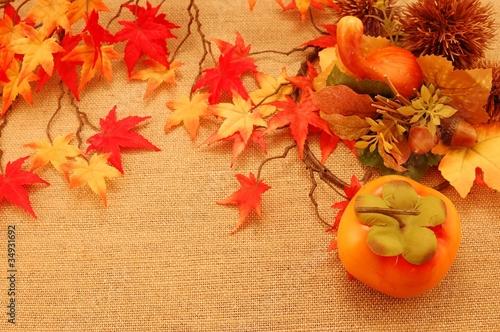 Fall Leaves Wallpaper Border Quot 秋の背景 Quot Fotolia Com の ストック写真とロイヤリティフリーの画像 Pic 34931692