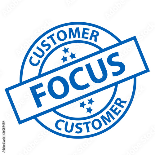 CUSTOMER FOCUS Stamp (service hotline assistance client support