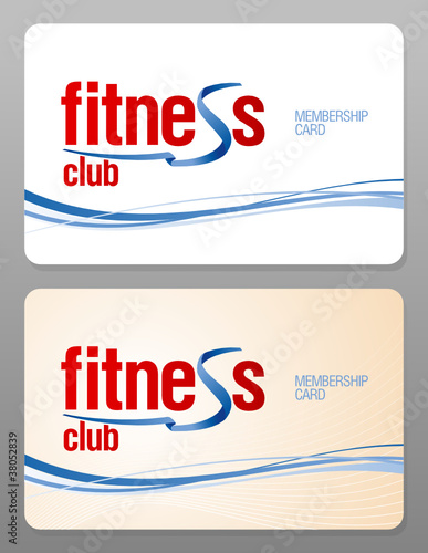 Fitness club membership card design template\