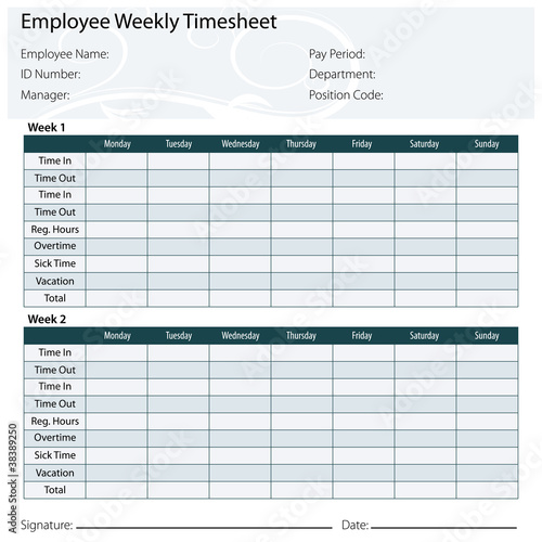Employee Timesheet Template\