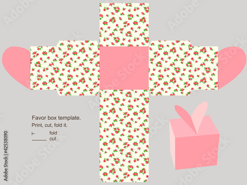 Gift box template\ - gift box template free